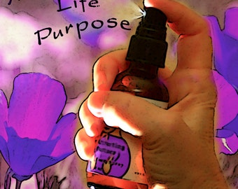 Manifesting Life Purpose, Follow Your Heart, Body and Room Spray, Flower Essence Aromatherapy, Organic, Reiki-infused