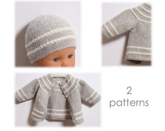 Baby Set / 2 Patterns / Knitting Pattern Instructions in English / PDF Instant Download