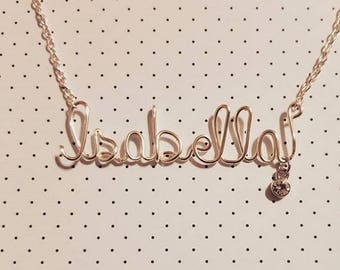 CUSTOM NAME NECKLACE, Name necklace, Personalized Name Gifts, Wire Wrapped Necklace, Wire Name Necklace, Bridesmaids Necklace, Gifts For Her