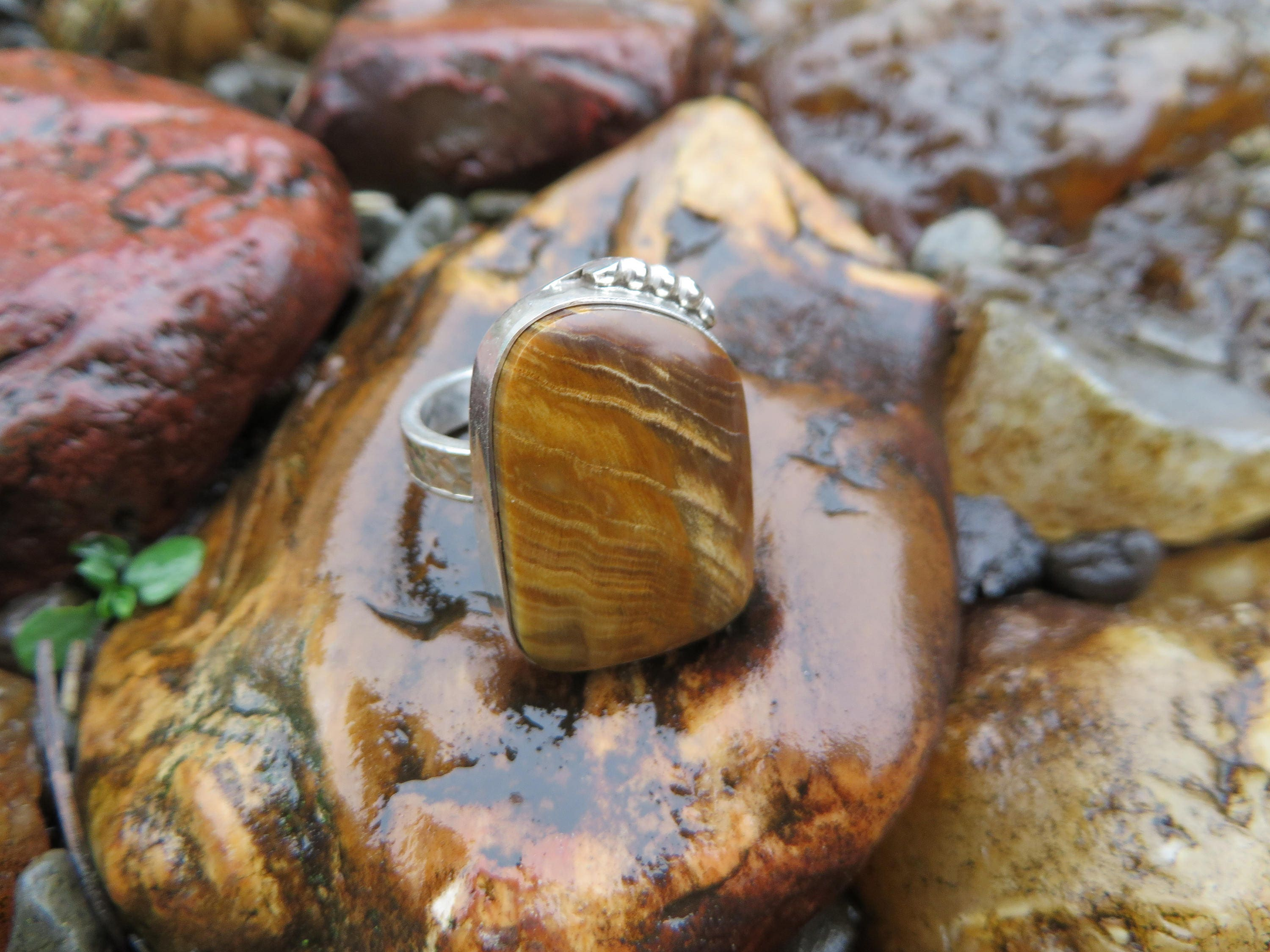 of sterling wood wedding ring hawaiian silver engagement koa pin inlay hand platinum engraved and set rings pair petrified with