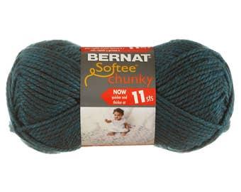 100 Yards Teal Green Blue Soft Chunky Yarn; Yarn Weight: #6 Super Bulky, Acrylic; Crocheting, Knitting, Macramé, Scarf, Garments, Afghans