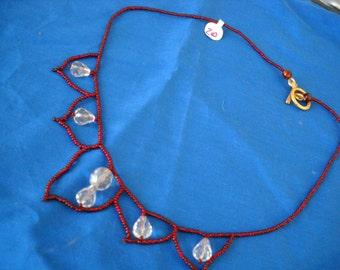 red lotus necklace