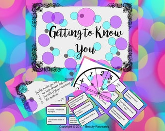 Digital Get to Know You Game Activity - Great for Back to School, Ice Breaker, Social Event or Just for Fun