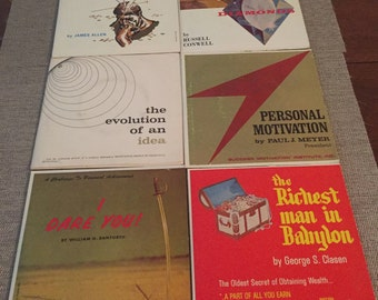 Vintage Collection Of 6 Motivational Speakers From Mid 60's On 33 1/3 RPM Records.