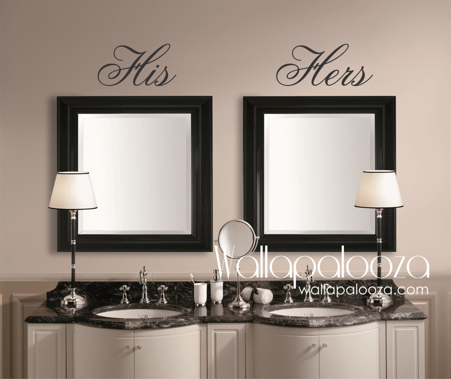 Bathroom wall decor His and Hers Wall Decal Mirror Decal