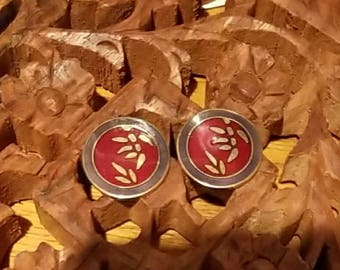 "Vintage Laurel Burch earrings.    ""BAMBOO"""