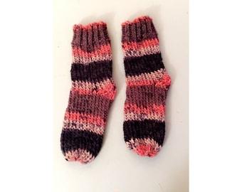 Knitted slipper socks!
