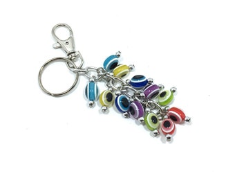 Evil Eye Keychain Oval, Hamsa, Evil Eye, Evil Eye Key Chain, Hamsa Keychain,  Evil Eye Hamsa (Buy 1 Get 1 FREE & FREE SHIPPING!!!)