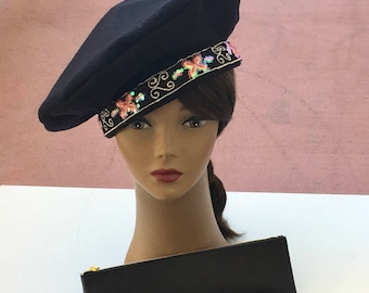 Winter Black Beret, Tams and other prints for women