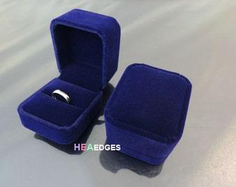 Blue velvet ring box Etsy