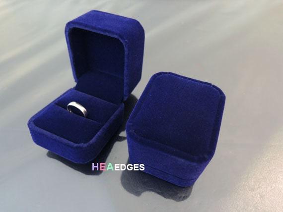 Jewelry Box Dark Blue Velvet Ring Box Jewelry Case Packaging