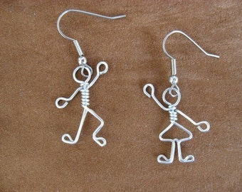 BOY GIRL EARRINGS for teachers, mothers wirework nickle-free