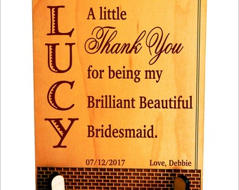 Bridesmaid Gifts - Gift for Maid of Honor - Personalized Bridal Gifts - Bridesmaid Gift Ideas - Wedding Party Gifts, PWP011