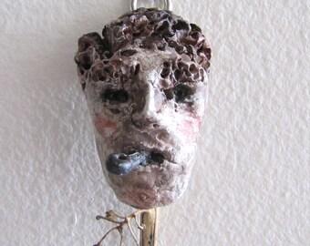 Ceramic Sculpture Figurine Wall Art - The Bohemian