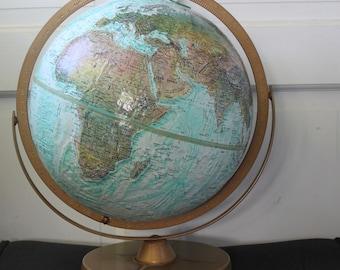 "Vintage Replogle World Ocean Series Globe // 12"""