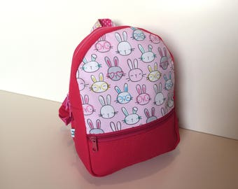 Backpack (M) 'Funny Bunny'