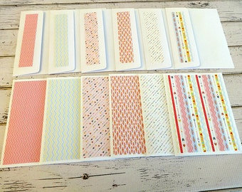 Blank Note Cards, Note Card Set, Blank Cards, Thank You Notes, Stationary, Set of 6 Note Cards with Matching Envelopes, Swirls and Arrows