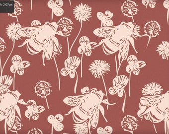 Vintage Bees Graphic Print.