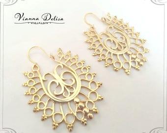 Tribal Earrings - Ethnic Earrings - Hoop Earrings - Earrings Gypsy - Boho - Aztec Statement Earrings - Geometry Earrings - Bohemian Style.
