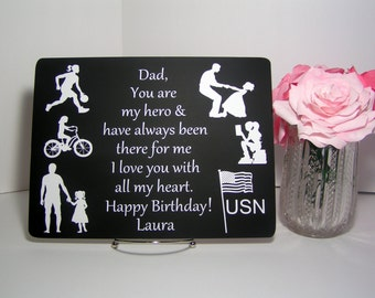 Gift For Dad From Daughter Personalized Fathers Birthday Father Day