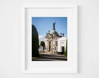 Chile travel print - Punta Arenas art photography - Chilean wall decor - Modern art - Big art print - Patagonia photo print - Cemetery print