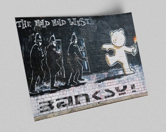 ACEO Banksy Mild Mild West Graffiti Street Art Canvas Giclee Print