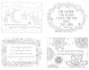 Scripture Postcards, God, Religious Cards, Thank You Cards, Christian Cards, Coloring Pages, Coloring Cards