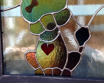 Stained Glass Poodle Dog