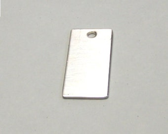 1/2 in x 1 in sterling silver rectangle stamping blank - tag - sterling charm - 18 gauge