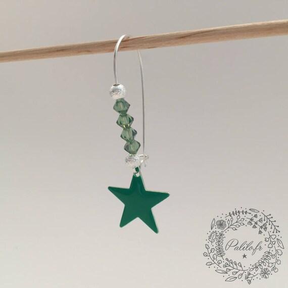 My Silver earrings with Swarovski Palilo by Starlight