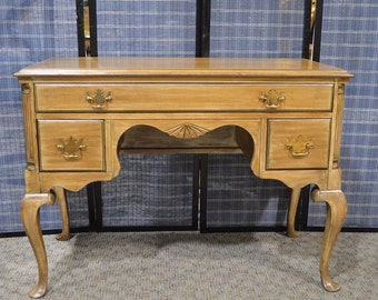 Vintage Maple Queen Anne Style Lowboy in a Weathered Finish