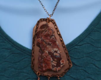 Painted Jasper on Copper