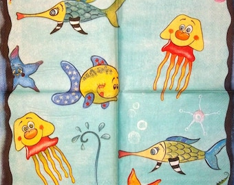 UNDER the Sea 1 lunch size paper towel 008