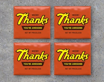 THANKS Reese's Peanut Butter Cup Toppers – Printable Instant Download – Thank You Gifts – Candy Bar Wrappers for Teachers, Coaches, Kids +