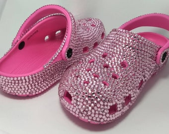 Crocs Custom Made with Crystals Pink