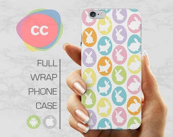 Bunny Rabbit Phone Case - iPhone 8 Case - iPhone 7 Case - iPhone 8, 7, 6, 6S, 5S, 5 Cases - Samsung S8, S7, S6 Case - iPhone Covers - PC-290