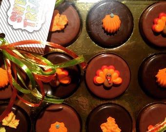 Thanksgiving Chocolate Covered Oreos 12 pc Box Set