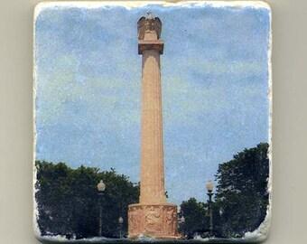 Centennial Monument in Logan Square -  Original Coaster