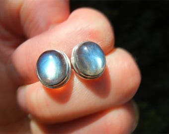 Labradorite Sterling Silver 925 earrings