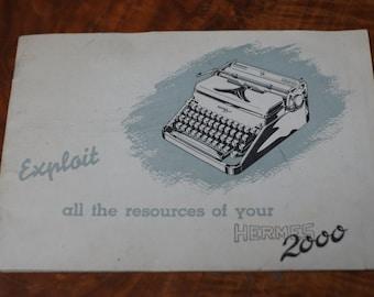 Manual for Hermes 200 typewriter