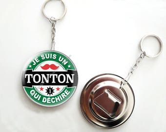 Keychain bottle opener beer - 56mm - Uncle