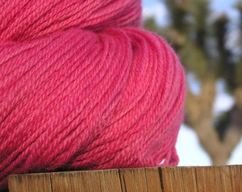 Natural Dye - Merino Wool -Cochineal and Rabbit Bush