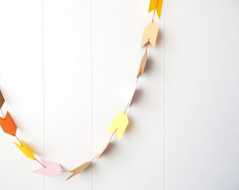 Arrow Garland in Pink Orange Yellow and Gold