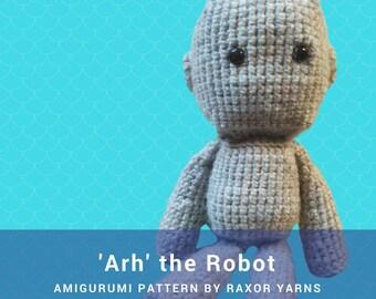 Arh the Robot Amigurumi Crochet Pattern