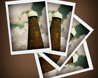 Guinness Brewery Tower Set of Four Blank Greeting Cards, Ireland, Dublin, St. Patrick's Day, Mini Art, Size A2