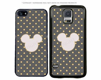 Disney Mickey Polka Dots Minimalist Phone Case for Apple iPhone 7, 7 Plus, iPhone 8, Galaxy S8, S8 Plus, S7, S7 Edge, LG, Pixel, XL, Note 8