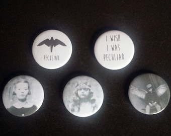 Miss Peregrine's peculiar badges / buttons / pins