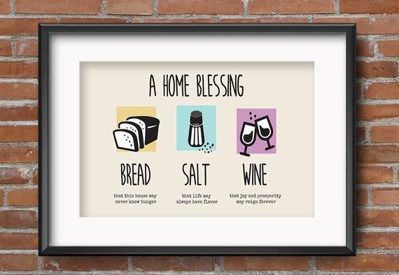 Bread salt wine housewarming gift housewarming gift basket for Best wine for housewarming gift