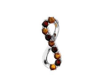 Bicolor amber pendant