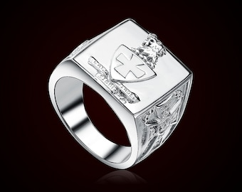 Sigma Chi Crest Ring - Sterling Silver (R001)